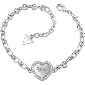 PULSERA GUESS HEARTS AND ROSES - UBB21516-S