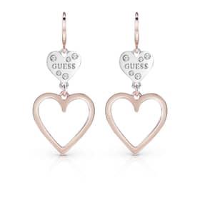 GUESS HEART IN HEART EARRINGS - UBE84002