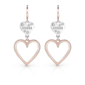 PENDIENTES GUESS HEART IN HEART - UBE84002
