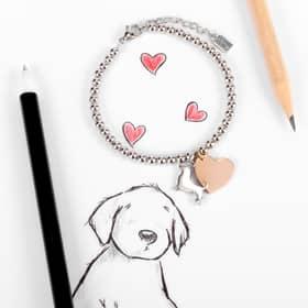 PULSERA LA PETITE STORY DOG & KITTY - LPS05AQI04