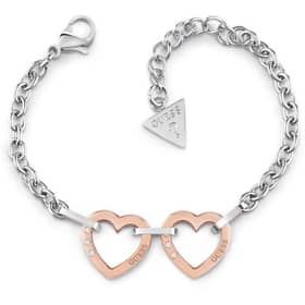 GUESS HEARTED CHAIN BRACELET - GU.UBB29073-S