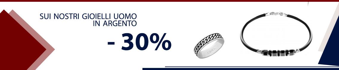 Gioielli Uomo Argento - 30%