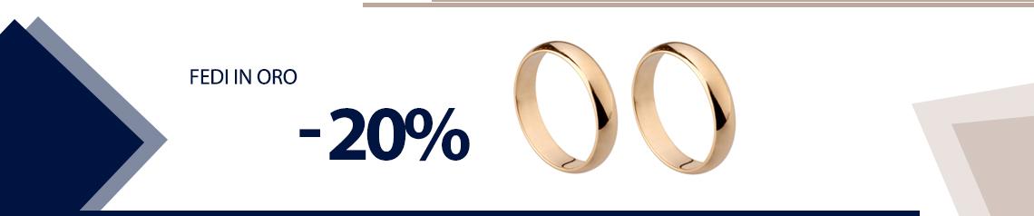 Fedi in oro -20%